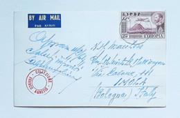 Cartolina Illustrata Viaggiata Per Via Aerea Da Asmara Per Imola 1964 - Etiopía