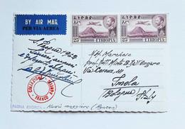 "Cartolina Illustrata ""Fauna Etiopica"" Viaggiata Per Via Aerea Da Asmara Per Imola 1962 - Etiopía"