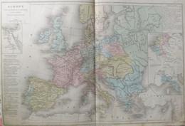 Rare Double Carte De L'EUROPE POUR LES GUERRES DE LA REPUBLIQUE ET DE L'EMPIRE. Par Drioux & Leroy.  Vers 1872. - Geographical Maps
