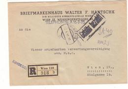 Autriche - Lettre Recom De 1948 - Oblit Wien - Cachet Gebühr Bezahlt - - 1945-60 Brieven