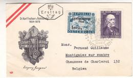 Autriche - Lettre FDC De 1954 - Oblit Wien - Valeur 30 Euros - 1945-60 Cartas