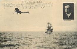 AVIATION. AVIATEUR - LATHAM - AEROPLANE ANTOINETTE - Flieger