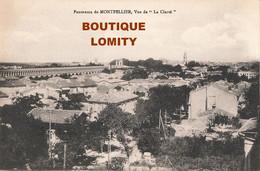 34 Montpellier Panorama Vue De La Clarté Cpa Carte écrite En 1934 - Montpellier