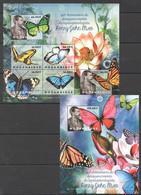 BC1173 2012 MOZAMBIQUE MOCAMBIQUE FAUNA BUTTERFLIES HENRY JOHN ELWES 1SH+1BL MNH - Mariposas