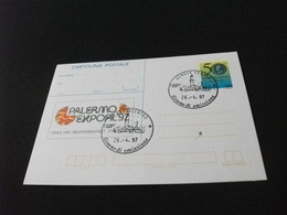 Cartolina Postale PALERMO EXPOFIL 97 FIERA DEL MEDITERRANEO - Beursen Voor Verzamellars