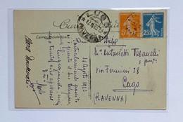 "Cartolina Postale Illustrata ""Vizille, Le Château Et La Piéce D'eau"" Viaggiata Per Lugo (RA) 1923 - Cartas"