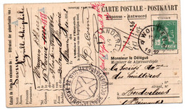 N 815 Uitreksel Geboorte Akte Van Woumen (relais) Naar Anderlues - 1912 Pellens