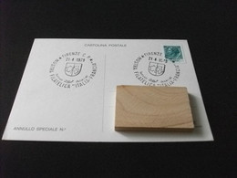 Cartolina Postale MOSTRA FILATELICA ITALIA FRANCIA FIRENZE 1979 - Beursen Voor Verzamellars