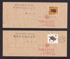 Ryukyu Islands: 3x Cover, 1967, Total 3 Stamps, Turtle Animal, Turtles, Rare Real Use (minor Damage, Folds) - Ryukyu Islands