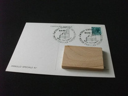 Cartolina Postale 3° MOSTRA FILATELICA NUMISMATICA SERAVEZZA LUCCA SERVIZI DISTACCATI - Beursen Voor Verzamellars