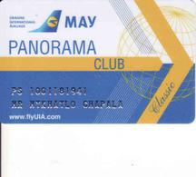 Ukraine, Airlines May,  Magnetic Card FlyUIA, Panorama Club - Motori