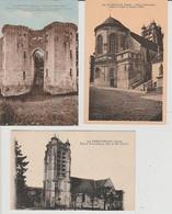 LA  FERTÉ - MILLON  ( 02 )  3  CPA -  RUINES  DU VIEUX  CHATEAU  & ÉGLISE ) (21 :9 / 253  ) - Other Municipalities