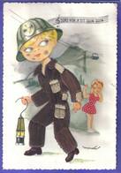 Carte Postale Brodée  Mineur  Mine  Le Petit Quin Quin Illustrateur Mairata  Très Beau Plan - Embroidered