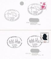 Deutschland 2 Sonderstempel Speyer - Europa, Partnerstadt Chartres, Dom, Gotik - Covers & Documents