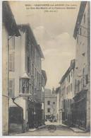 D43.  CRAPONNE SUR ARZON.  LA RUE STE MARIE ET LA FONTAINE BARDON AN 1929. - Craponne Sur Arzon