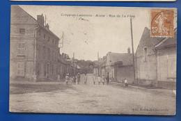 CREPY-en-LAONNOIS   Rue De La Fère    Animées    écrite En 1928 - Other Municipalities