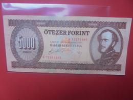 HONGRIE 5000 FORINT 1990 Circuler - Hongrie