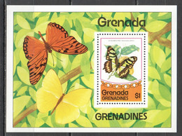 PM105 1975 GRENADA GRENADINES FAUNA BUTTERFLIES BL MNH - Mariposas