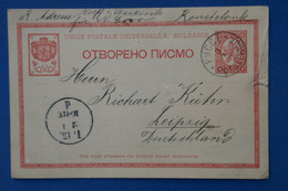 AB9 BULGARIA  BELLE CARTE 1896    POUR LEIPZIG GERMANY ++ AFFRANCH.PLAISANT - Covers & Documents