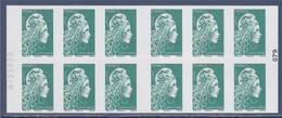 Marianne L'Engagée Carnet 1598... Lettre Verte X12 à Droite 079 Numéroté 8155922 à Gauche, Le Petit Prince 75 Ans - Usage Courant