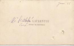 F152 / CDV Carte Publicitaire De Visite PUB Advertising Card / 1882 Abbé LAURENTIE Doyen De Montreal Curé - Tarjetas De Visita