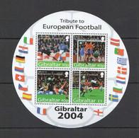 PM136 2004 GIBRALTAR SPORT FOOTBALL TRIBUTE TO EUROPEAN FOOTBALL 1KB MNH - Championnat D'Europe (UEFA)