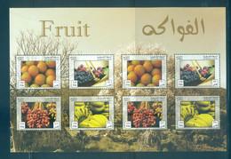 Palestine 2012- Fruits Of Palestine M/sheet - Palestine