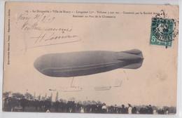 Le Dirigeable Ville De Nancy Société Astra Rentrant Au Parc De La Chiennerie Zeppelin Saucisse - Luchtschepen