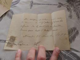 13/9. 15 -  Lettre De Change, Pour Droits D'Exhumations, à Mirande, Gers, 20 Novembre 1899 - Cambiali