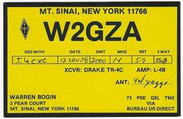 QSL Card - Mount Sinai - New York - U.S.A. - H7747 - Radio Amateur