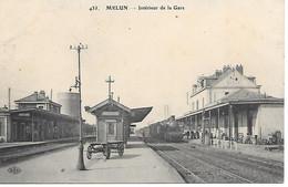 A/450                77          Melun             La Gare & Les Quais     - Arrivée D'un Train - Melun