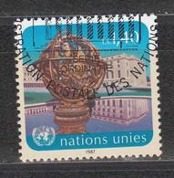 NACIONES UNIDAS 1986 - SEDE DE GINEBRA - LA ESFERA - YVERT Nº 153 USADO DE FAVOR - Gebraucht