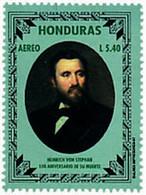 Ref. 51285 * NEW *  - HONDURAS . 1997. CENTENARY OF THE DEATH OF HEINRICH VON STEPHAN FOUNDER OF UNIVERSAL POSTAL UNION. - Honduras
