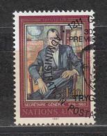 NACIONES UNIDAS 1986 - SEDE DE GINEBRA - HOMENAJE A TRYGVE LIE - YVERT Nº 151 USADO DE FAVOR - Gebraucht