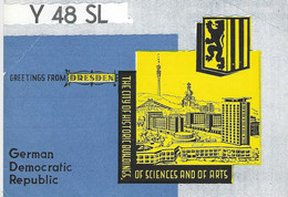 QSL Card - Dresden - Germany - H7755 - Radio Amateur