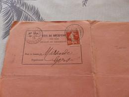 13/9. 24 - Avis De Réception D'un Objet Chargé Ou Recommandé,  Paris à Mirande, 1915 - Non Classificati