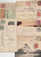 LOT De 110 Cartes Postales Avec Cachets Convoyeurs (4 Scans) - Spoorwegpost