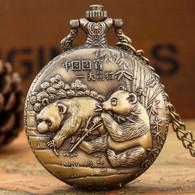 Montre Gousset NEUVE ( Pocket Watch ) - Pandas Chinois - Orologi Da Polso