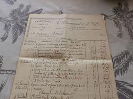 13/9. 27 - Facture , Peintures Et Vitrerie , X.Bourniquel Et J.Ville, Mirande, Gers, 1909 - Artigianato