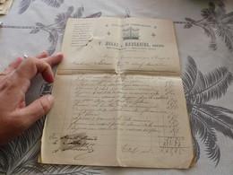13/9. 28 -  2 Factures , Atelier De Serrurerie , V.Moras Et Marcadier , Rue Gambetta,  Mirande, Gers, 1910 - Artigianato