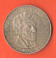 25 Schilling 1964 Franz Grillparzer Austria Österreich Silver Coin - Austria