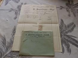 13/9. 30 - Facture Et Enveloppe, Carrosserie, Quincaillerie, Fers, Fontes... D.DESPALANQUE-AUGE, Mirande, Gers, 1913 - Profumeria & Drogheria
