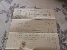 13/9. 31 - Facture, Entreprise Générale De Peintures Et Vitrerie, X.Bourniquel, MIRANDE, Gers, 1913 - Artigianato