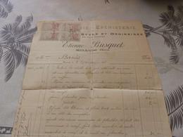 13/9. 32 - Facture, Menuiserie - Ebénisterie Etienne Busquet ,   MIRANDE, Gers, 1918 - Artigianato