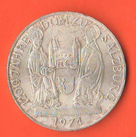 50 Schilling 1974 Domzu Salzburg Austria Österreich Silver Coin - Austria