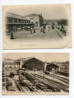 69 LYON 2 Cartes  Gare Des Voyageurs Perrache Vue Interieur Trains Wagons Et Vue Exterieure   D17  2021 - Other