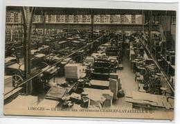 87 LIMOGES  Un Atelier Des Imprimeries Charles LAVAUZELLES Et Cie  Machines  1939 écrite      D17  2021 - Limoges
