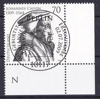 (2744) BRD 2009 O/used (Eckrand Unten Rechts ESST) (A1-12) - Used Stamps