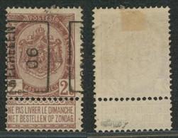 "Fine Barbe - N°55 Préo ""Mechelen 1906"" Position A (n°828) / Cote 35e+ - Roller Precancels 1900-09"