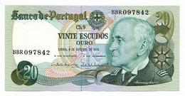 PORTUGAL - 20 Escudos 4. 10. 1978. P176b, UNC. (P006) - Portugal